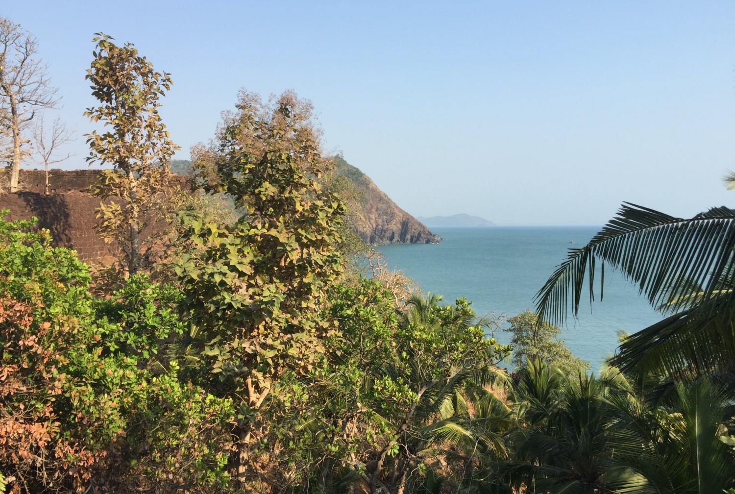 South Goa from Cabo de Rama fort